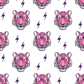 tiger with bolts (pink)