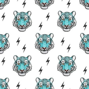 tiger with bolts (blue)