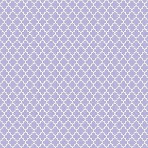 quatrefoil light purple - small