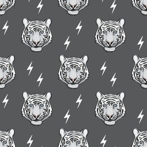 white tiger - grey with bolts
