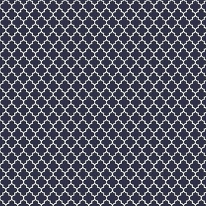 quatrefoil midnight blue - small