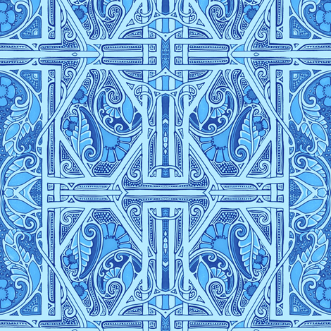 When You Do Blue fabric by edsel2084 on Spoonflower - custom fabric