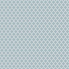 quatrefoil slate blue - small