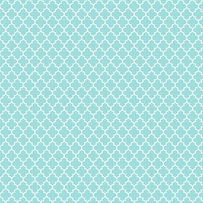 quatrefoil light teal - small