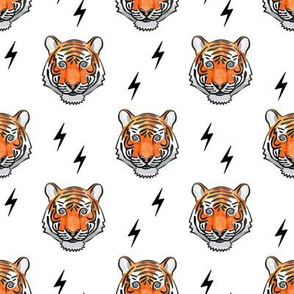 tiger with bolts