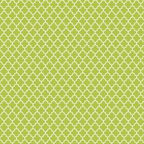 quatrefoil lime green - small