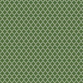 quatrefoil hunter green - small