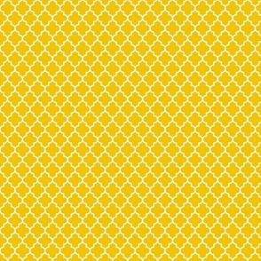 quatrefoil mustard yellow - small