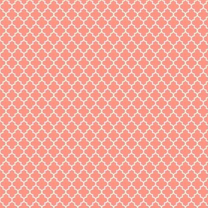 quatrefoil peach - small