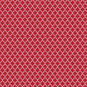 quatrefoil red - small