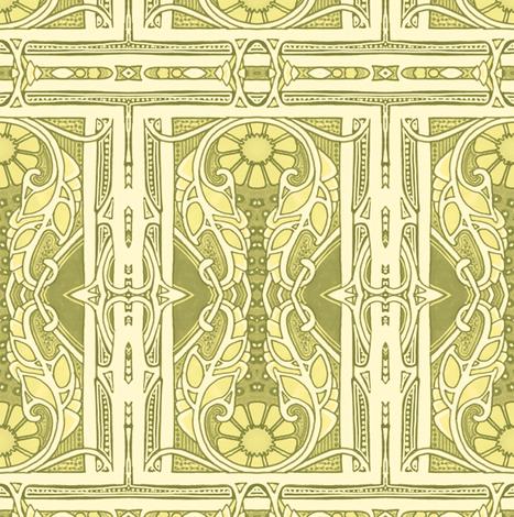 Lemon Lime Edwardian Time fabric by edsel2084 on Spoonflower - custom fabric