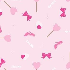 Hearts Print - Pink