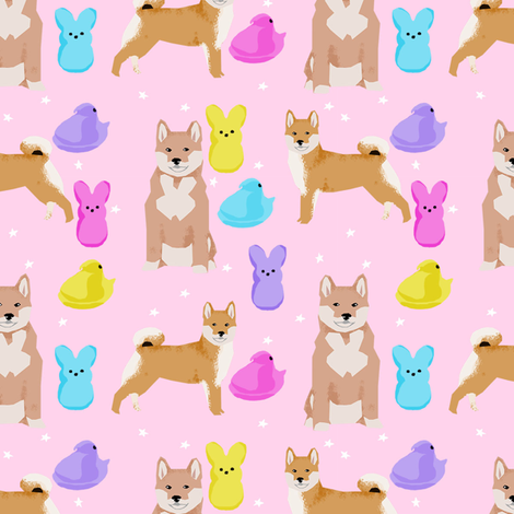 Shiba Inu Spring Easter Marshmallow Treats Dog Breed