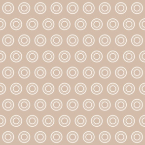 Cream and Beige Dots and Circles
