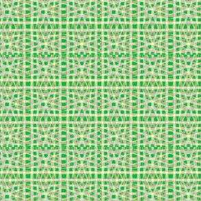 Art Deco plaid green