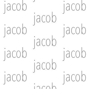 Jacob - Charcoal on White