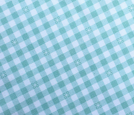 Stitched Gingham* (Midi Cola Bottle) || jumbo check star starburst stitching needlework checkerboard spring summer 70s retro vintage pastel green