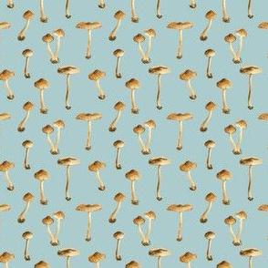 Blue Mushroom Print