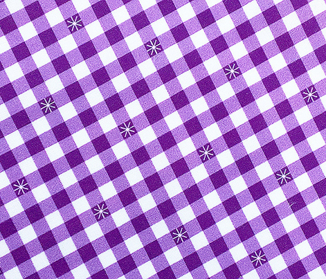 Stitched Gingham* (Midi Lavender Disaster) || jumbo check star starburst stitching needlework checkerboard spring summer 70s retro vintage