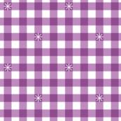 Stitched Gingham* (Midi Lavender Disaster) || jumbo check star starburst stitching needlework checkerboard spring summer 70s retro vintage