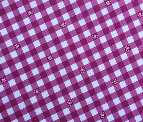 Stitched Gingham* (Midi Pink Liza) || jumbo check star starburst stitching needlework checkerboard spring summer 70s retro vintage pastel green