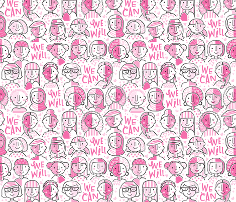 We Can We Will  fabric by gitchyville_stitches on Spoonflower - custom fabric