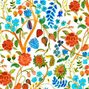 Vintage floral pattern (large scale)