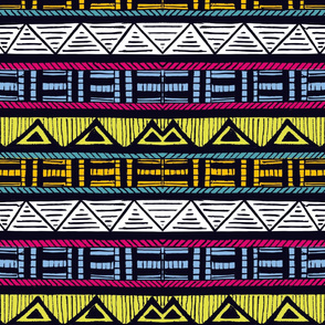 African Stripes 7/ Horizontal