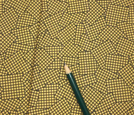 Sudoku Grid Mashup - Black on Mustard