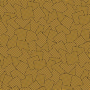 Sudoku Grid Mashup - Black on Mustard