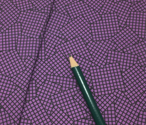 Sudoku Grid Mashup - Black on Purple