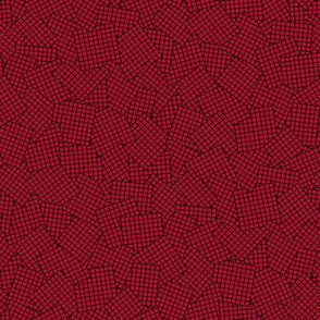 Sudoku Grid Mashup - Black on Red