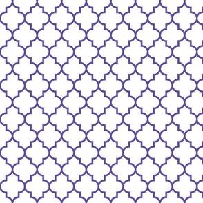 quatrefoil MED purple on white
