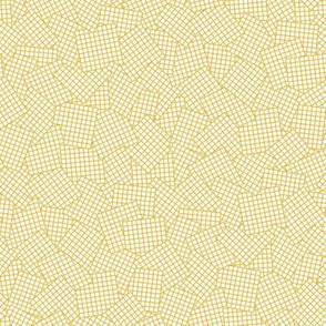 Sudoku Grid Mashup - Mustard on White