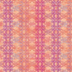 orange batik scroll