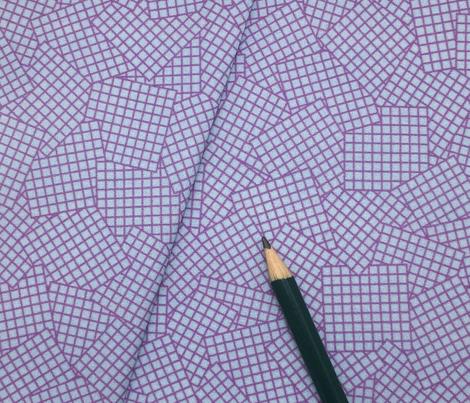 Sudoku Grid Mashup - Purple on Light Blue