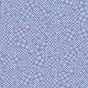 Sudoku Grid Mashup - Purple on Light Blue