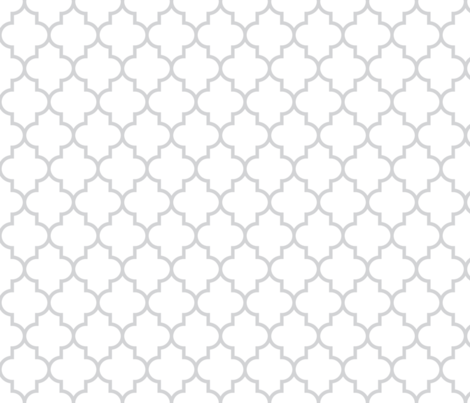 quatrefoil MED light grey on white fabric by misstiina on Spoonflower - custom fabric