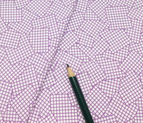 Sudoku Grid Mashup - Purple on White