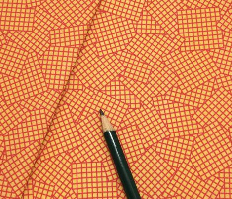 Sudoku Grid Mashup - Red on Mustard