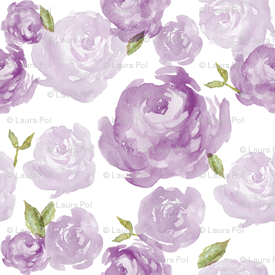 Purple Watercolor Floral