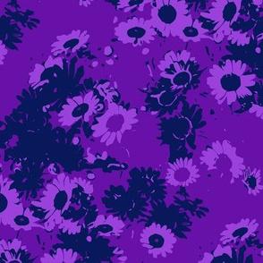 Daisies Violet and Indigo