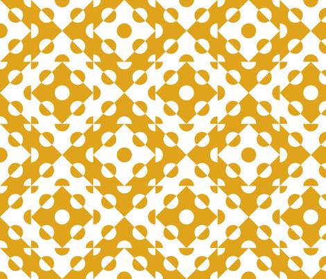 Mosaic Modernism (Circles-Gamboge) fabric by vannina on Spoonflower - custom fabric