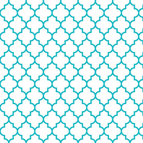 quatrefoil MED surfer blue on white