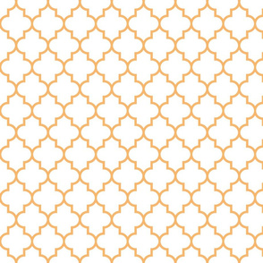 quatrefoil MED mango on white