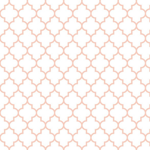 quatrefoil MED blush on white