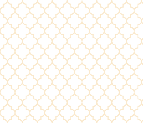 quatrefoil MED ivory on white fabric by misstiina on Spoonflower - custom fabric