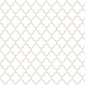 quatrefoil MED sand on white