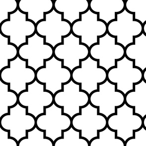 quatrefoil LG black on white