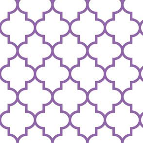 quatrefoil LG amethyst on white